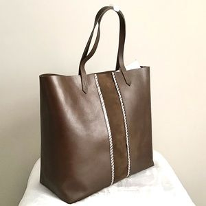 Madewell Transport Leather Tote New With Tag
